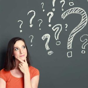 woman with questions about her dental insurance