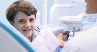 doctor going over sedation options for a child's dental work